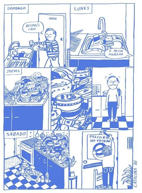 Hombre viviendo solo