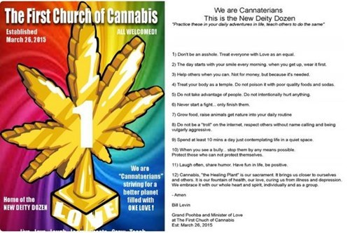 All hail the church of weed