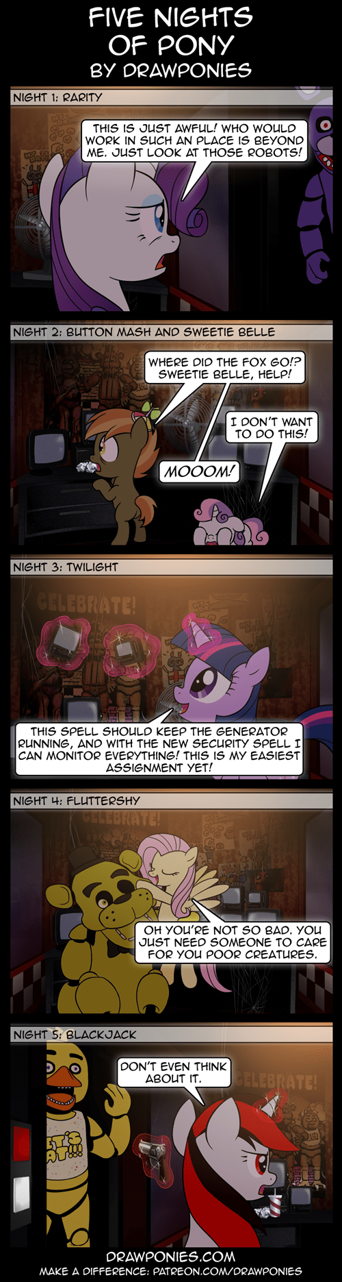 MLP web comics five nights at freddy's - 8470822912
