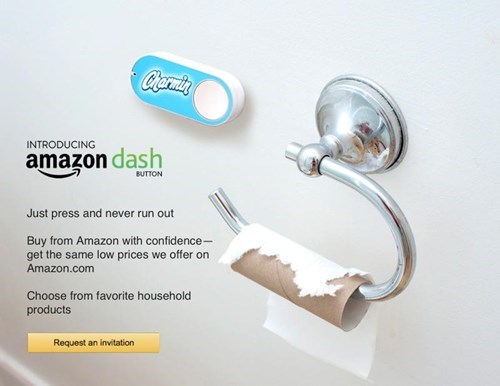 Bathroom accessory - Chermin INTRODUCING amazon dash BUTTON Just press and never run out Buy from Amazon with confidence- get the same low prices we offer on Amazon.com Choose from favorite household products Request an invitation