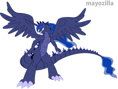 Fan Art godzilla princess luna - 8471111168