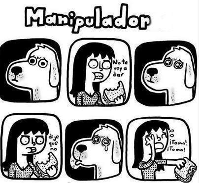 perro manipulador