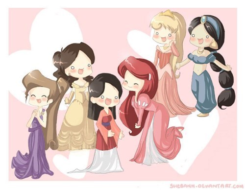 disney memes chibi disney princesses