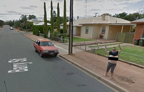 Not google map street view nudes happens