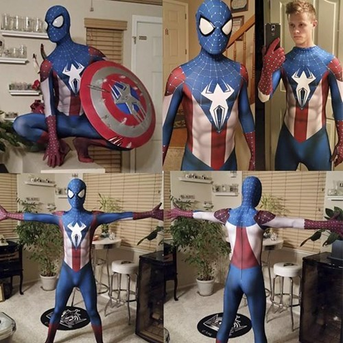 superheroes-spiderman-marvel-captain-america-cosplay