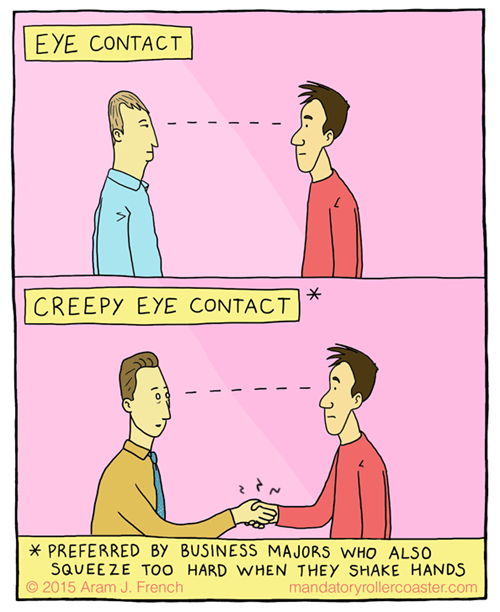 eye contact business web comics