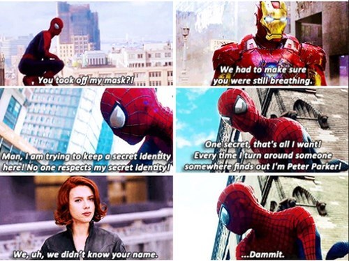 secret identity,secrets,Spider-Man,avengers