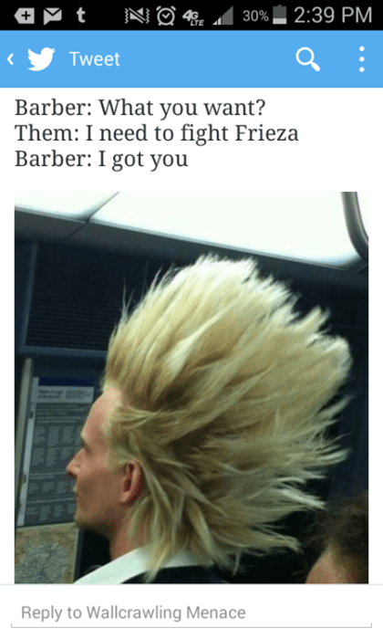 anime memes barber fight frieza