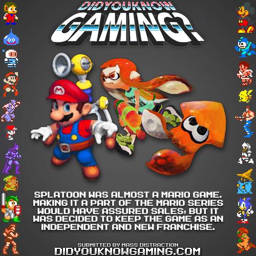 did you know gaming,splatoon,nintendo