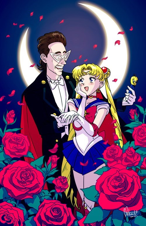 crossover,Fan Art,sailor moon,seinfeld