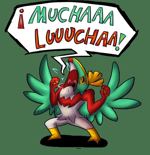 hawlucha,mucha lucha,Fan Art