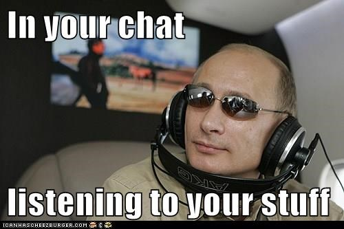 In your chat listening to your stuff