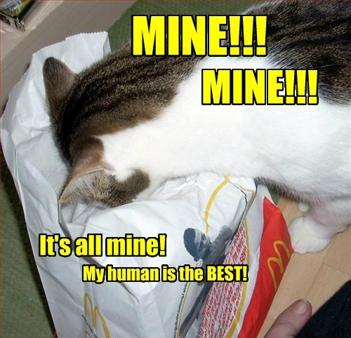 mine McDonald's noms Cats - 8473264640