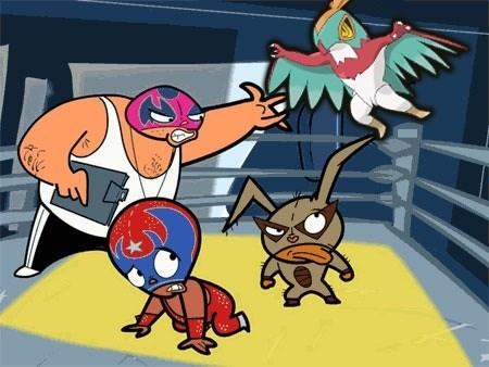 crossover hawlucha mucha lucha cartoons - 8473341184