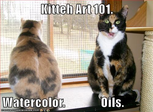 animals lolcats art painting funny - 8473427456