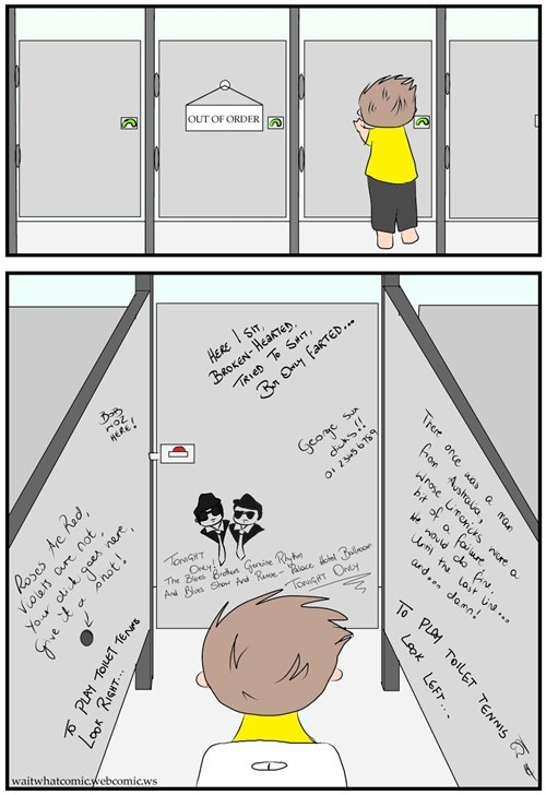 graffiti toilets web comics
