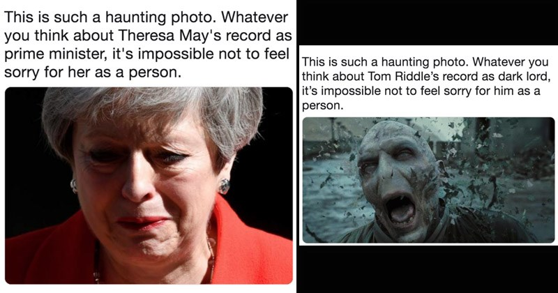 twitter theresa may Memes UK funny tweets politics english this is such a haunting photo Game of Thrones - 8473861