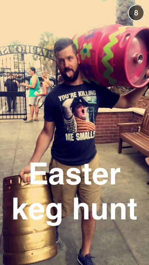 easter kegs egg hunt