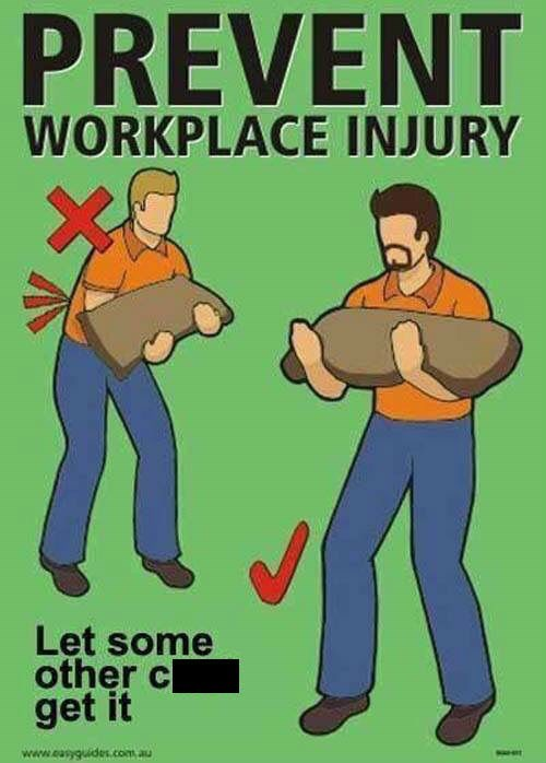 injuries can happen at work