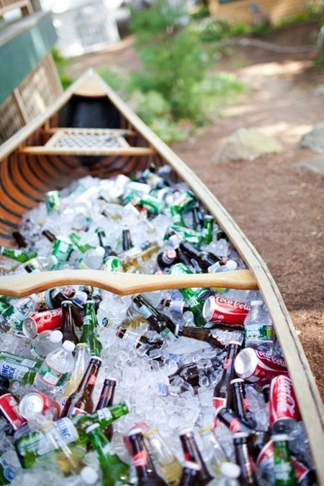 a beer filled boat.