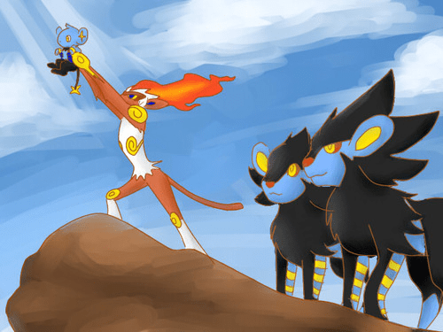luxray,shinx,Fan Art,lion king