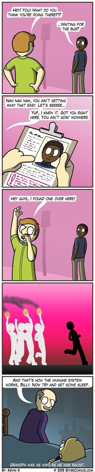immune system,racism,sad but true,web comics