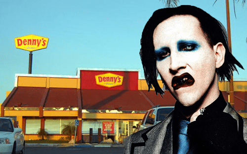 Marilyn Manson has some bad table manners