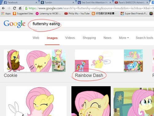internet,food,fluttershy,rainbow dash
