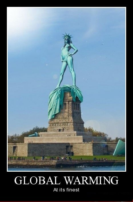 climate change Statue of Liberty funny - 8475380224