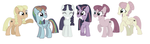 mane 6 MLP equalists - 8475477760