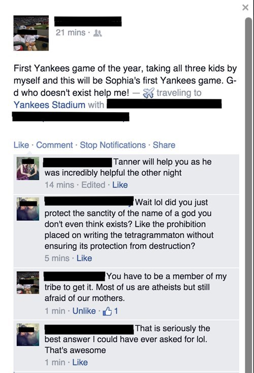 yankees religion baseball parenting