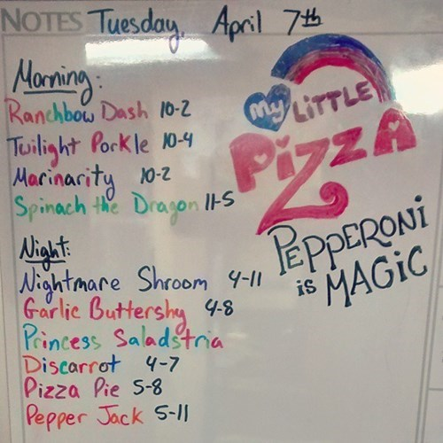 menu pizza MLP - 8475761664