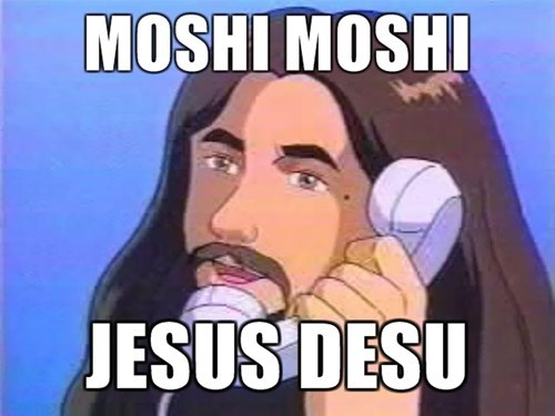 anime memes moshi moshi jesus desu