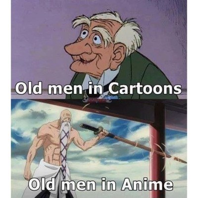 anime memes old men cartoons