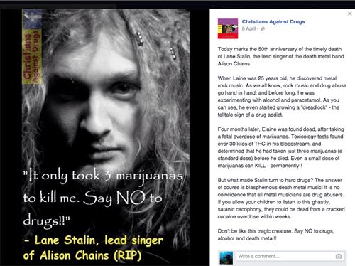Music drugs alice in chains satire wrong failbook g rated - 8476156416