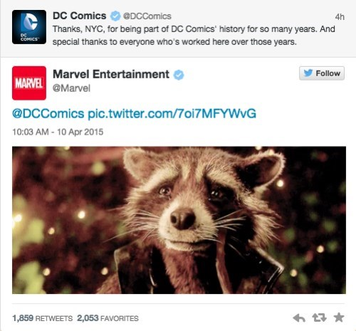Sad twitter marvel DC moving