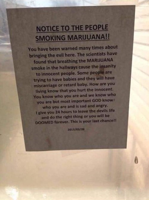 god knows what happens when you smoke the marijuana