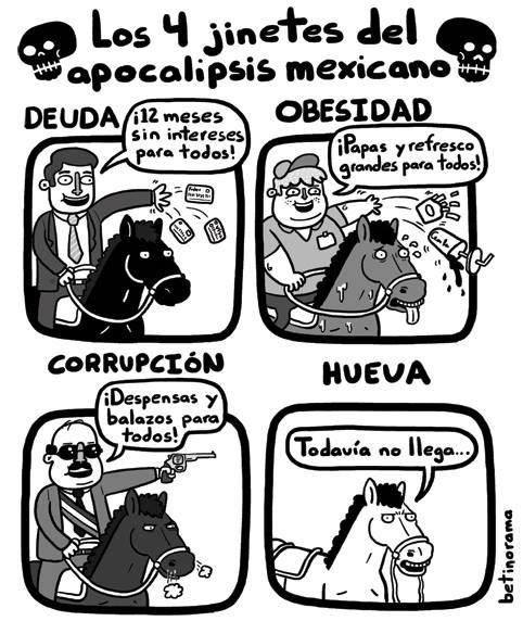 4 jinetes del Apocalipsis mexicano