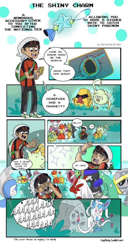 pokemon memes shiny charm comic