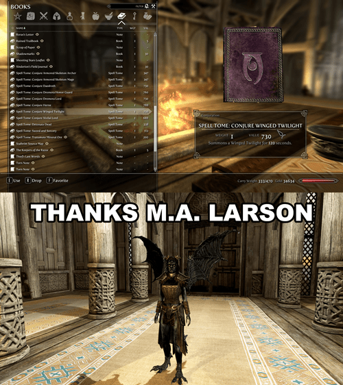 alicorn,Skyrim,ma larson