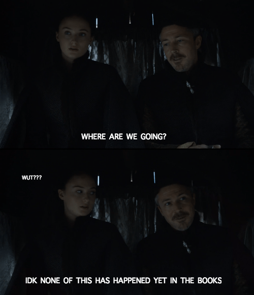 game of thrones memes where are sansa and littlefinger going