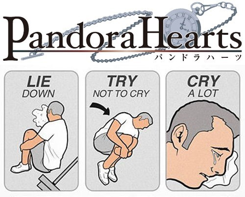 pandora hearts,try not to cry,anime