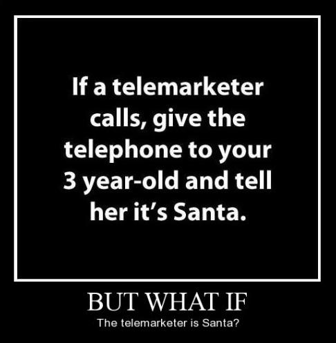 telemarketer santa funny - 8477688320
