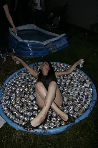 beer pool better than being the center of attention