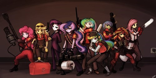 Fan Art,equestria girls,Team Fortress 2
