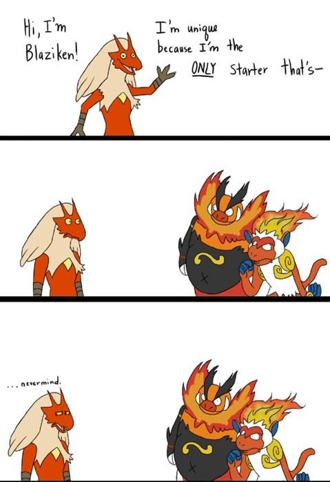 pokemon memes blaziken unique