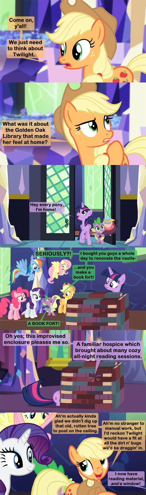 spike applejack book fort twilight sparkle - 8477972736