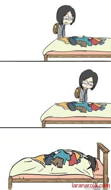 lo ropa en la cama