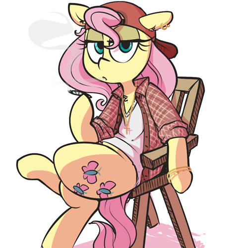 Fan Art hugs thug life fluttershy - 8478788864