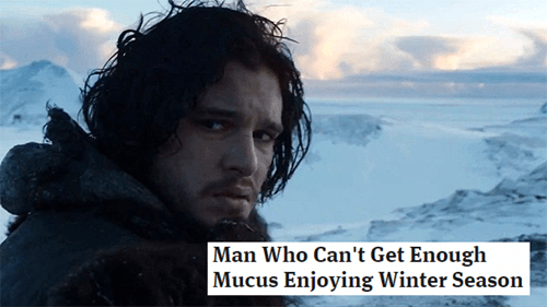 Sky - Man Who Can't Get Enough Mucus Enjoying Winter Season